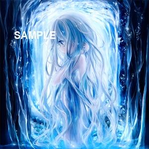「少女と森の中の泉(背景素材)」ダウンロード商品