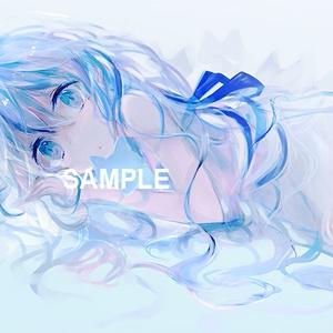 「白と青の少女」ダウンロード商品