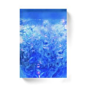 「青(背景)」アクリルブロック
