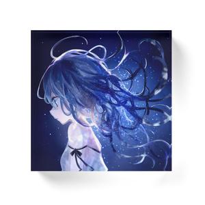 「星空と青の少女」アクリルブロック