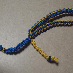 ブレスレットのようなヘアアクセサリー(青×黄色)