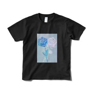 青薔薇Tシャツ