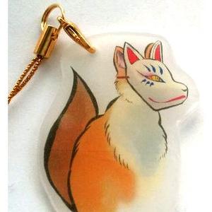 狐面きつねストラップ(青)