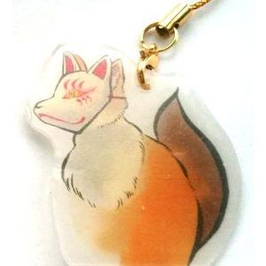 狐面きつねストラップ(赤)