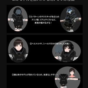 VRChat【3Dmodel】さくら ~試作Armorバージョン~
