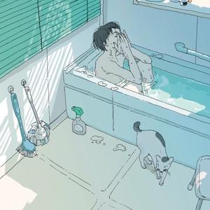 ポストカード「昼間の入浴」