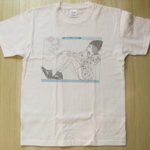 【送料無料】加藤光雲 オリジナルイラストレーションTシャツ Sサイズ/Mitsukumo Kato