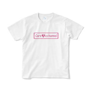 みっちゃんネル LOGO Tシャツ(白地×ピンク)