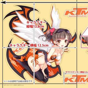 KTMステッカー左右2枚 バイク M子ちゃん オリジナルステッカーシリーズ001
