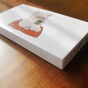 一服する豚のモバイルバッテリー