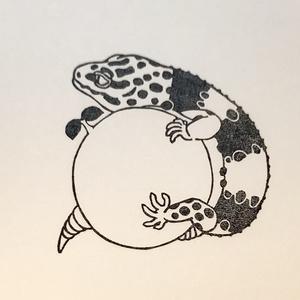 レオパはんこ「芽を守る」(品番:R-H7)