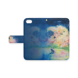 【iPhone手帳型スマホケース】物語る桜