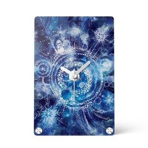 【アクリル時計】雪星の旅人