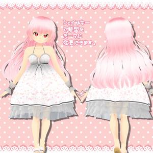 オリジナル3Dアバター「ルビノー」&アペンド衣装「ゴシック風ワンピ」セット