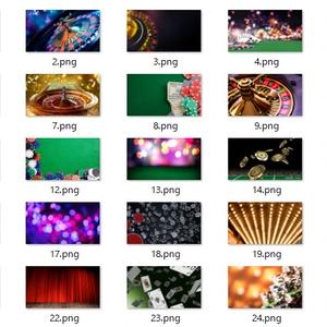 【zoom背景】カジノ・トランプ【人狼】25枚セット