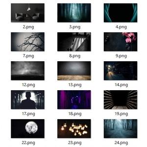 【zoom背景】ダーク【人狼】25枚セット