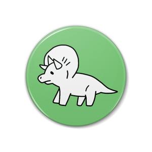 恐竜缶バッチ【トリケラトプス】