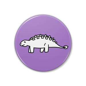 恐竜缶バッチ【ステゴサウルス】