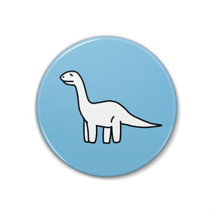 恐竜缶バッチ【ブラキオサウルス】
