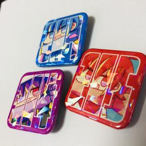 三兄四角缶バッチセット