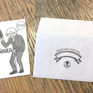 活版印刷メッセージカードと封筒のセット