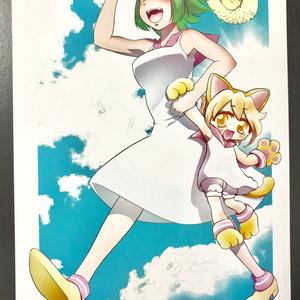 テワ&さんにゃんポストカード(2018夏)