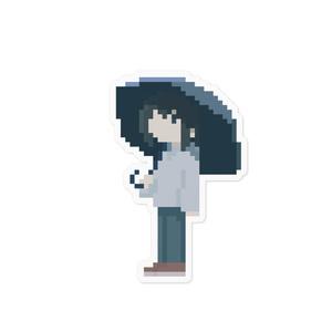 雨の日のやきステッカー