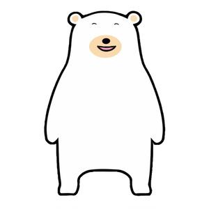【FaceRig用アバター】【動物】シロクマ