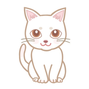 【FaceRig用アバター】【動物】白猫