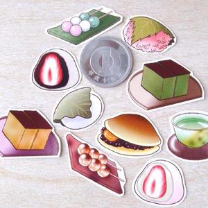 和菓子☆フレークシール