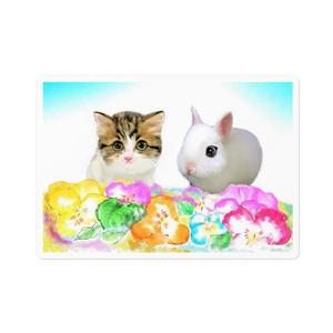 子猫と子うさぎ