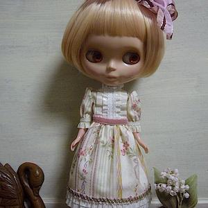 1/6Doll dress /mauve pink