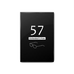 グロタンディーク素数(黒) 缶バッジ