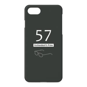 グロタンディーク素数(黒) iPhoneケース