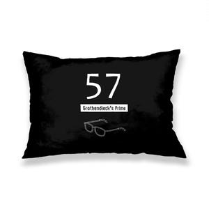 グロタンディーク素数(黒) 枕カバー