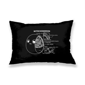ミトコンドリア(黒) 枕カバー