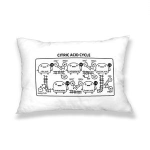 ミトコンドリア(白) 枕カバー