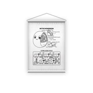 ミトコンドリア(白) タペストリー