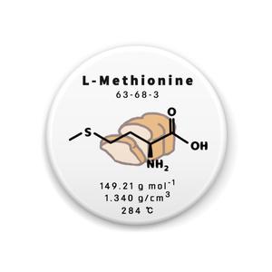 アミノ酸(メチオニン) 缶バッジ
