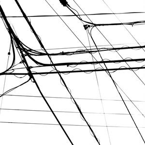 電線1 アクリルブロック