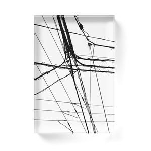 電線6 アクリルブロック
