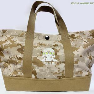 実物迷彩生地 ツールトートバッグ【irodori military×ヤマメは今日もサバゲ日和 コラボ】