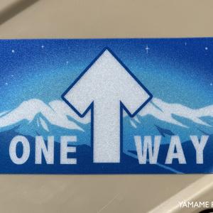 [ステッカー] ONE WAY 反射ステッカー