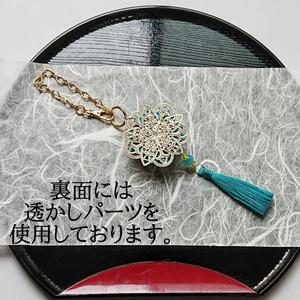 刀剣男士イメージつまみ細工バッグチャーム『山ノ宿リ、海ノ奏デ』