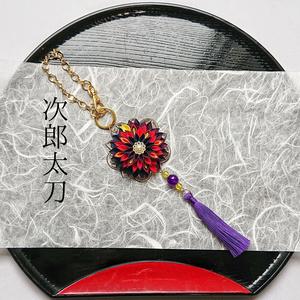 刀剣男士イメージつまみ細工バッグチャーム/根付『神威ヲ、纏フ』