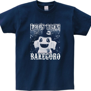 ばけごろう・実写Tシャツ(メトロブルー色)