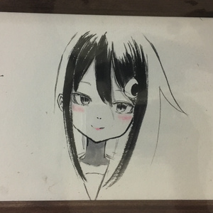 長月水墨画(A5サイズ 3点)