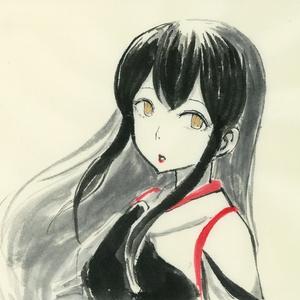水墨画「赤城改二画」