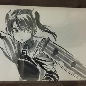 水墨画「瑞鶴画」