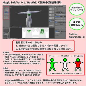 Magic Suit 有償版 -アバター間衣装着回し支援Blenderアドオン-
